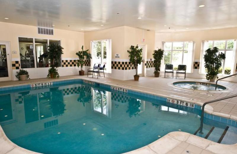 Indoor pool at Hilton Garden Inn Austin.