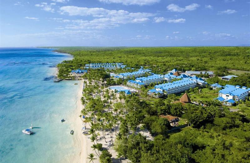 Aerial view of Dreams La Romana Resort & Spa.