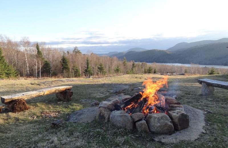 Fire pit at Garnet Hill Lodge.