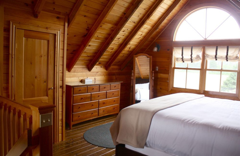 Guest room at Dalvay By-The-Sea.