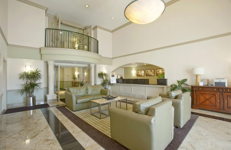 The lobby at Extended Stay Deluxe Austin.