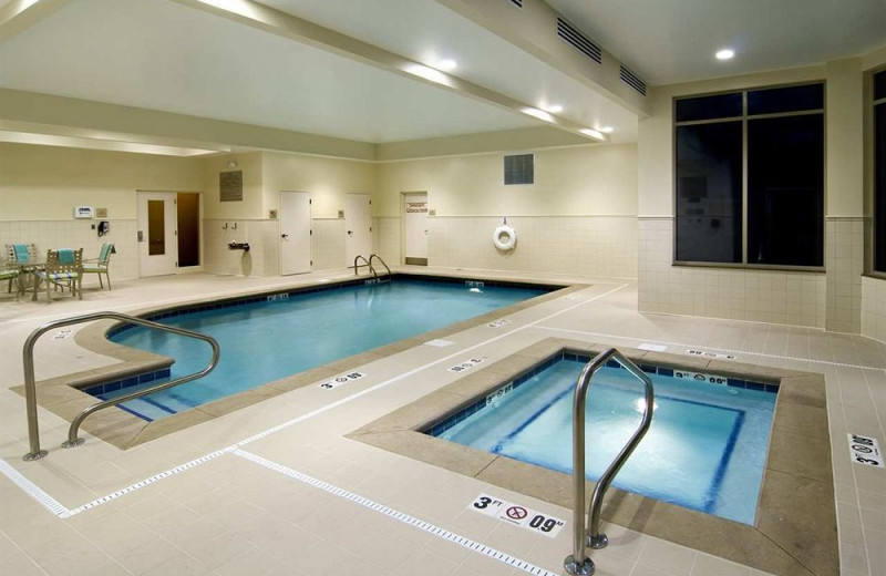 Indoor pool at Hilton Garden Inn Cleveland East/Mayfield Village.