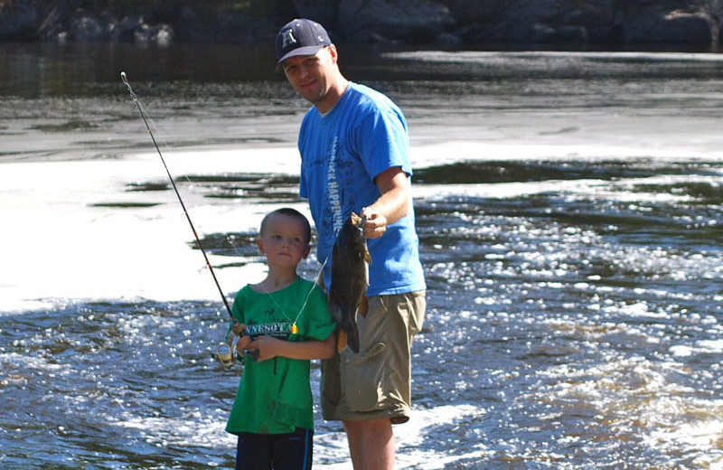 Fishing at Birch Forest Lodge.