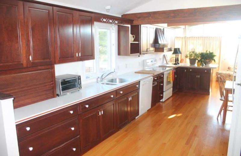Rental kitchen at Hopper Real Estate.