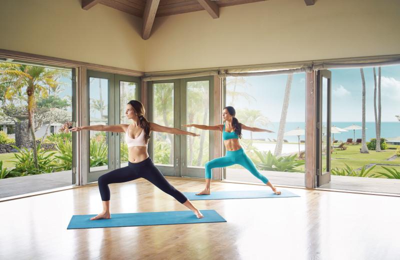Yoga at Travaasa Hana.