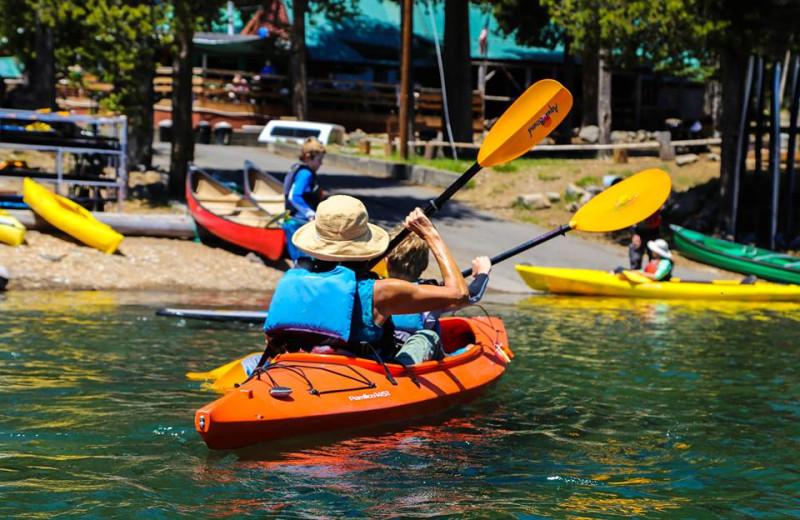 Kayaking at Elk Lake Resort.