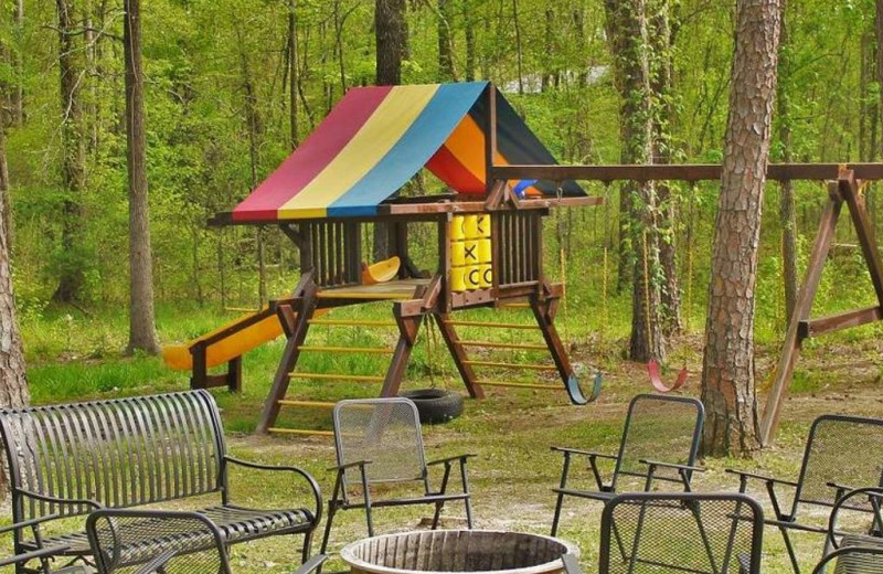 Cabin playground at Lake Mountain Cabins.