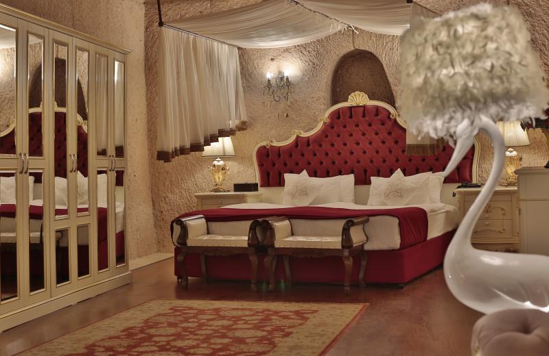 Guest room at CCR Cappadocia Cave Resort.