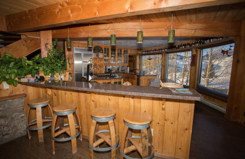 Rental kitchen at Alpine Getaways.