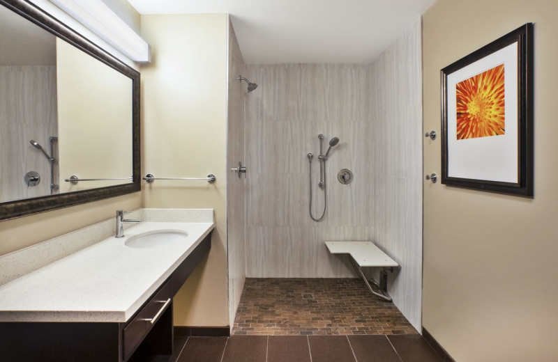 ADA guest bathroom at Staybridge Suites - Benton Harbor.