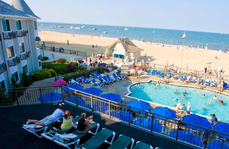 Outdoor pool at Hotel Breakers.