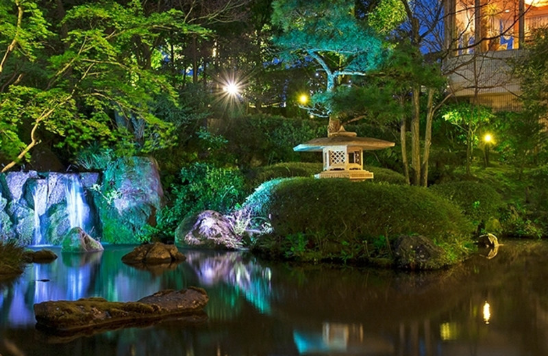 Garden at Hotel Narita Tokyu.