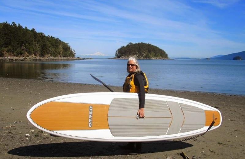 Paddle board at Blue Vista Resort.