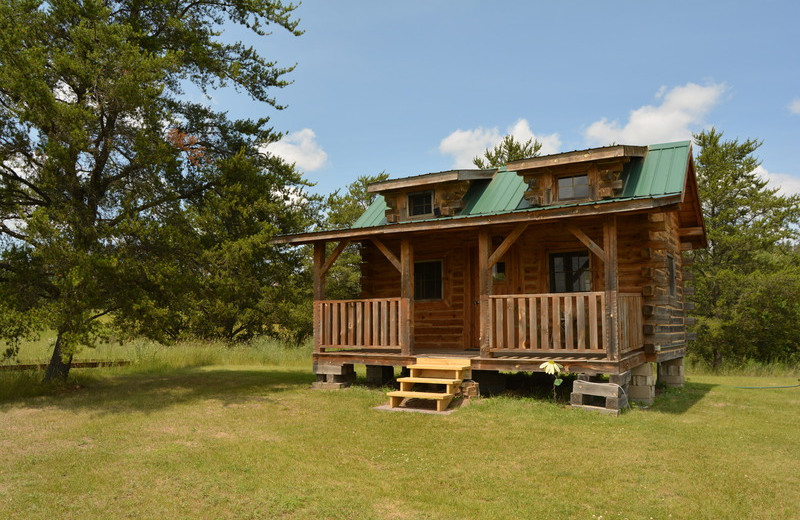 Cabin exterior at Black Lantern Resort and Retreat.