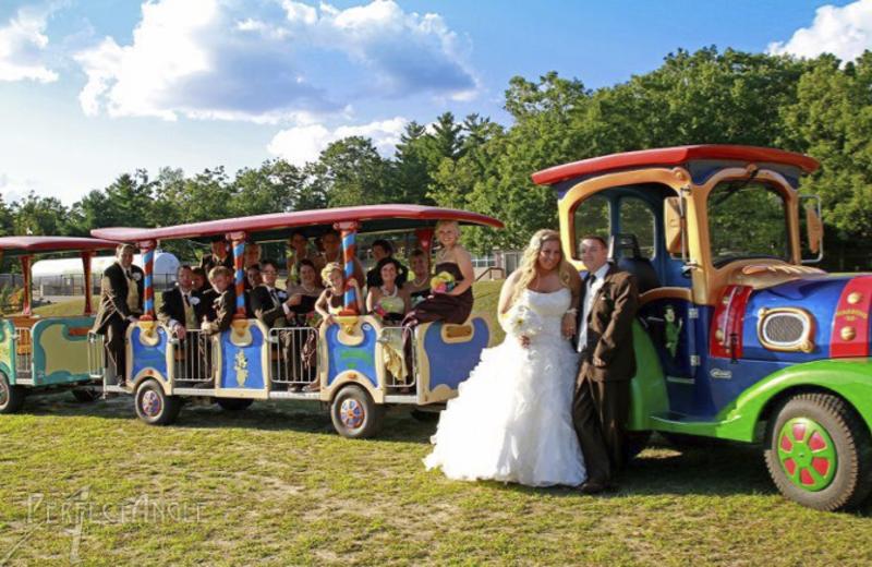 Wedding at Yogi Bear's Jellystone Park Warrens.