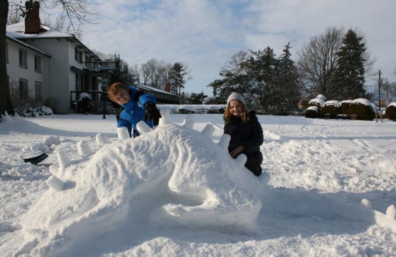Snow fun at The Briars.