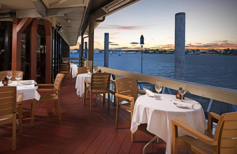 Dining at Cove Inn on Naples Bay.