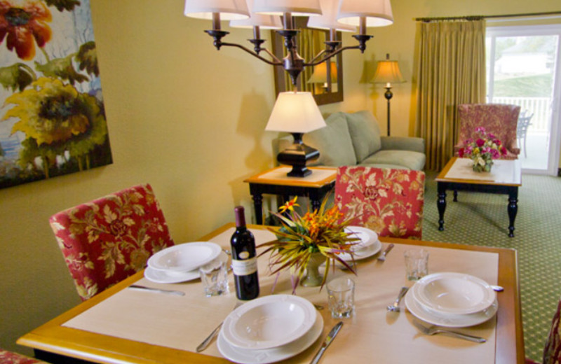Suite Dining Area at The Historic Powhatan Resort