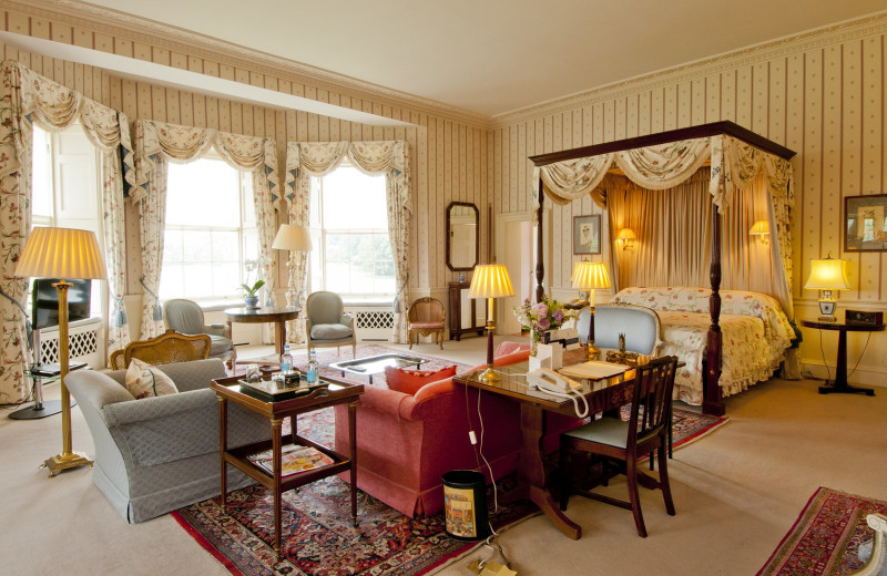 Guest room at Hartwell House.
