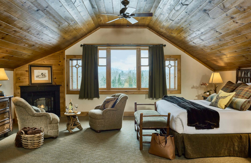 Guest room at The Whiteface Lodge.