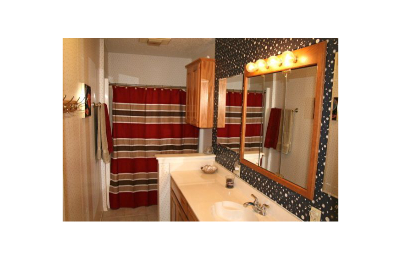 Rental bathroom at Oak House On Lake LBJ.