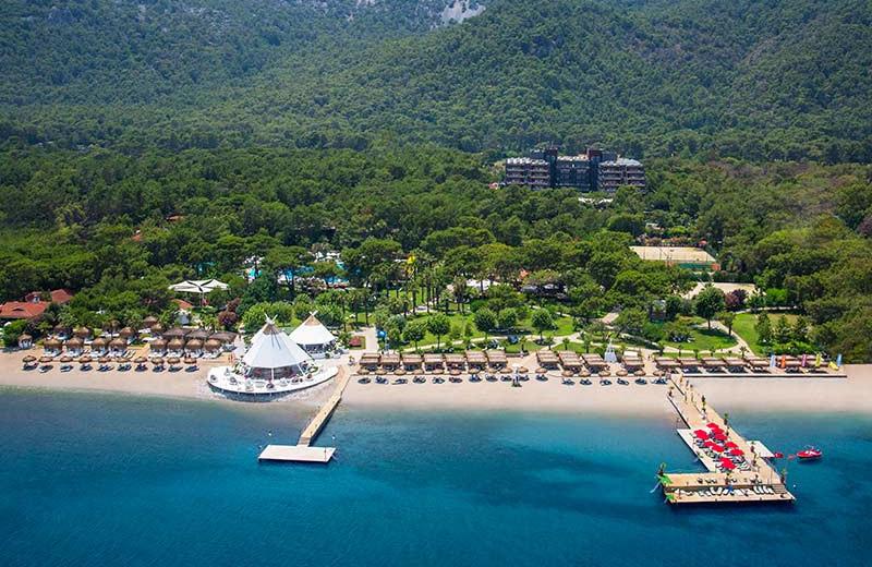 Aerial view of Renaissance Antalya Hotel.