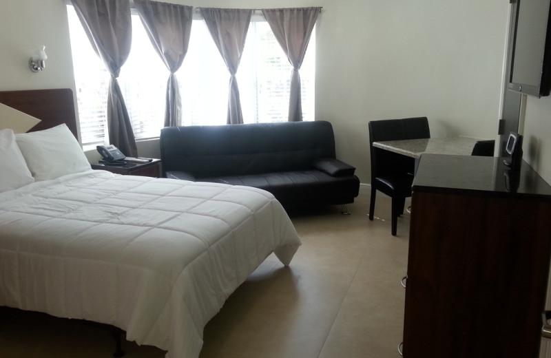 Guest bedroom at Caribbean Resort Apartments.