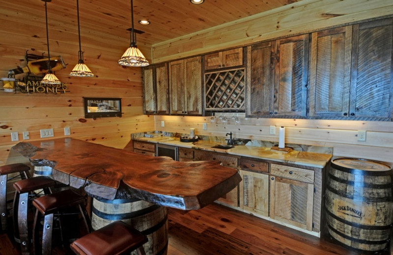 Cabin kitchen at Mountain Top Cabin Rentals.
