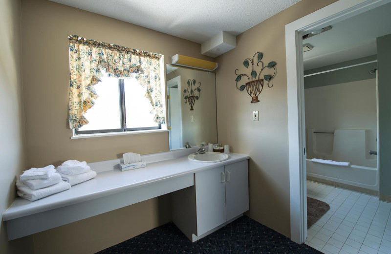Guest bathroom at Waterville Valley.