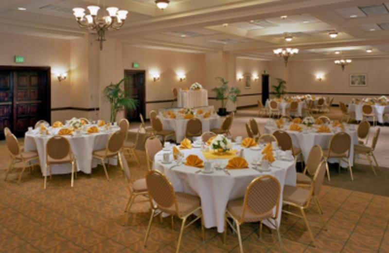 The Harbor Ballroom boasts a built-in parquet dance floor at Best Western Baltimore.