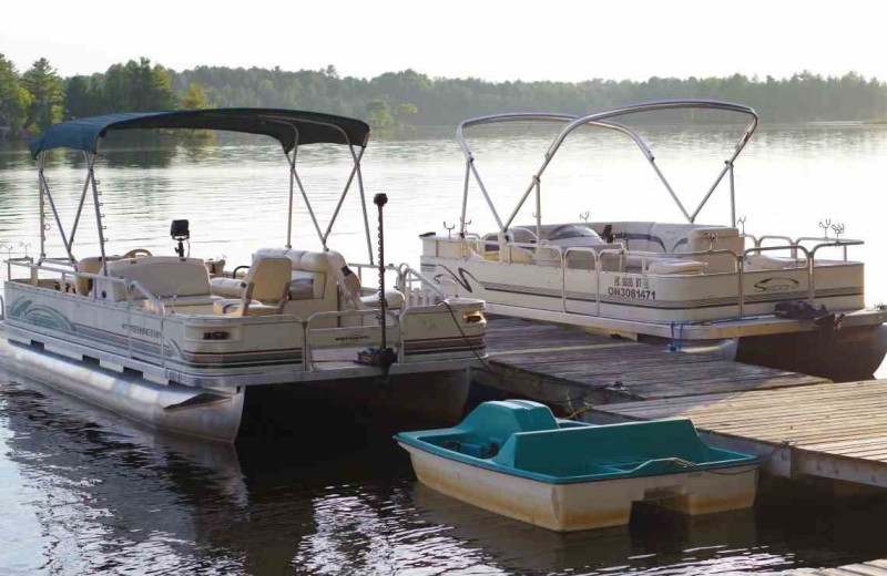 Rental boats at Deluxe Camp.