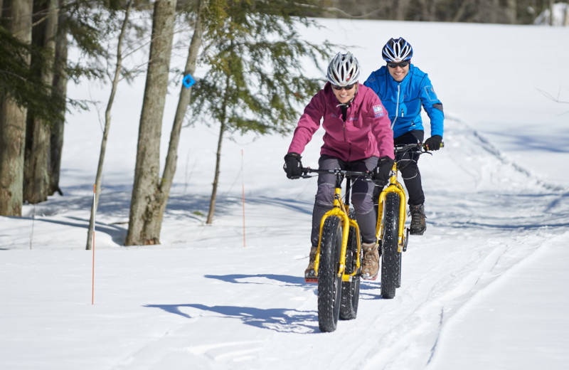 Fat biking at Crystal Mountain Resort.