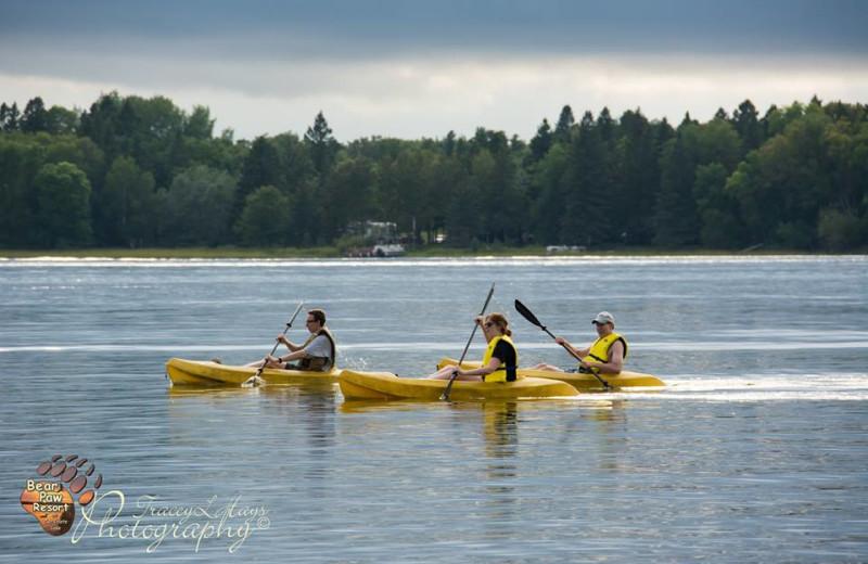 Water activities at Bear Paw Resort.