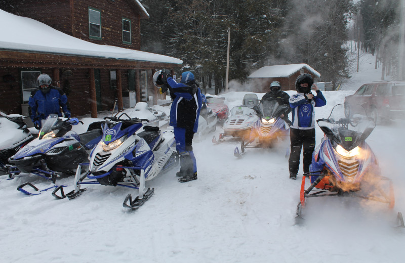 Snowmobiling at Wilderness Bay Lodge and Resort.