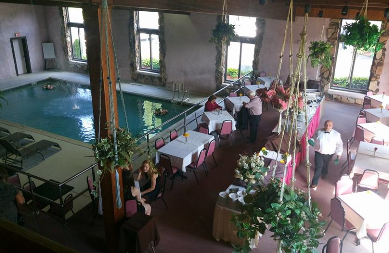 Indoor pool at Acra Manor Resort.