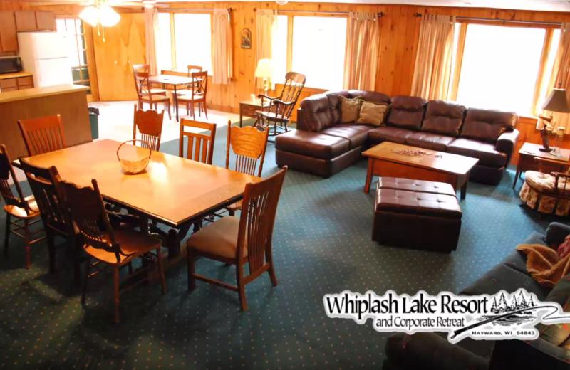 Cabin interior at Whiplash Lake Resort.