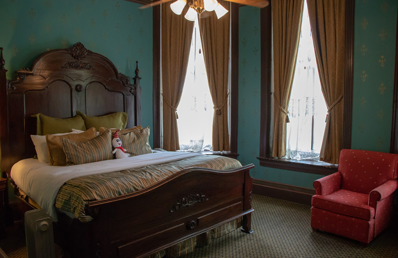 Guest room at 1886 Crescent Hotel & Spa.