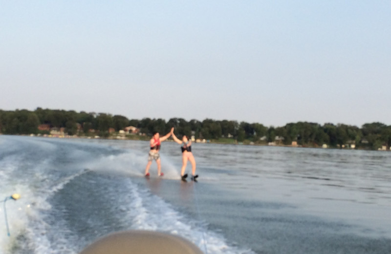 Water skiing at Diamond Lake Resort.