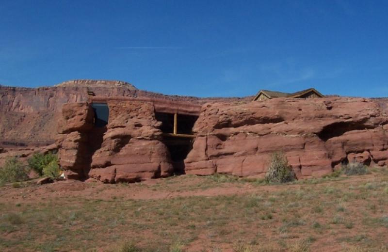 Cabin exterior at Canyonlands Lodging.