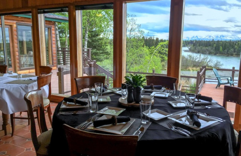 Dinning at Great Alaska Adventure Lodge.