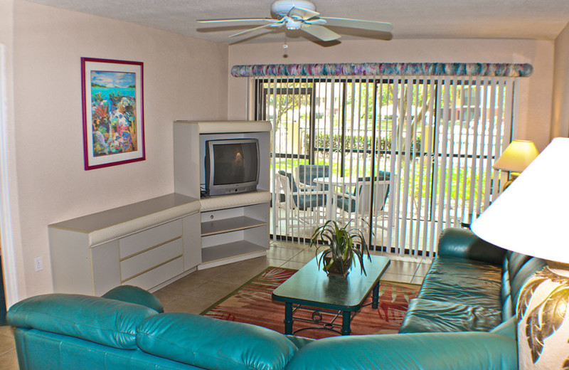 Guest living room at Westgate Vacation.