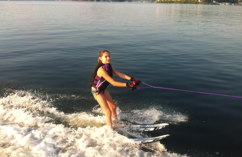 Water skiing at Lakeview Resort.