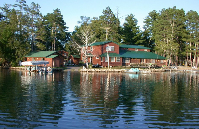 View from the lake at Isle O' Dreams Lodge.