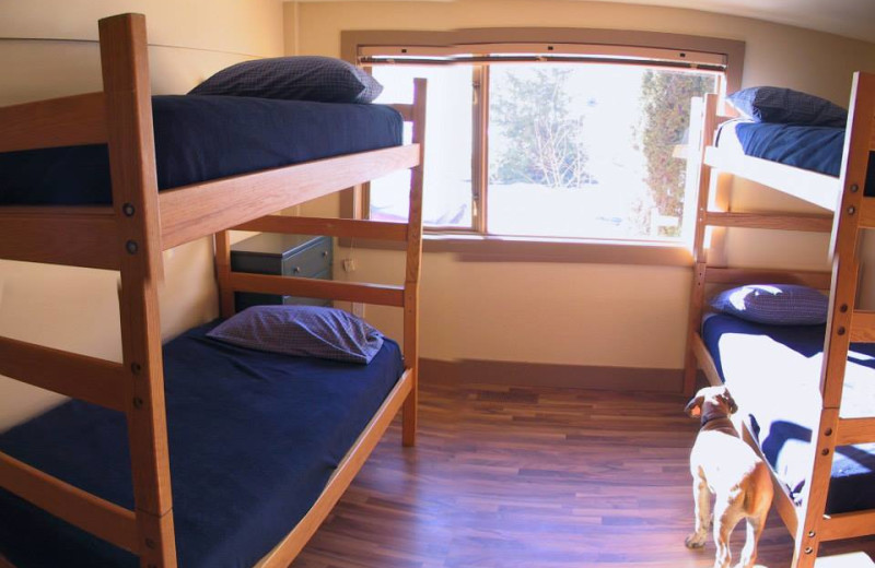Bunk beds at The Big House Lodge.