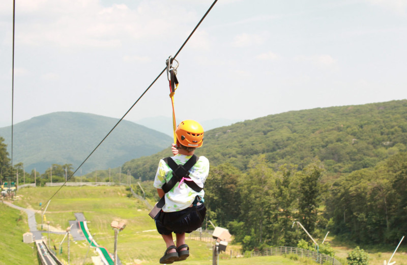 Zip line at Wintergreen Resort.