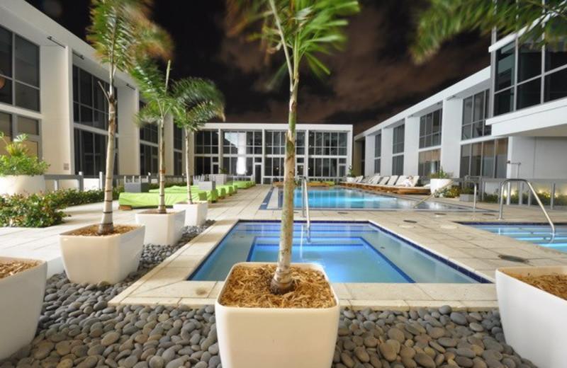 Outdoor pool at Casa Moderna Miami.