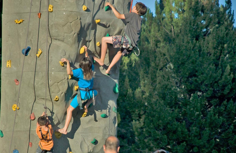 Rock climbing at Black Butte Ranch.