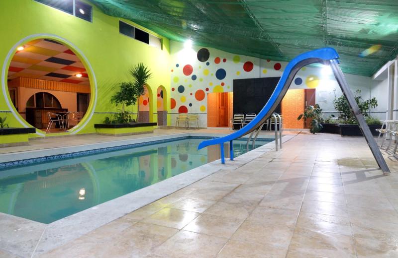 Indoor pool at Hostería El Troje.