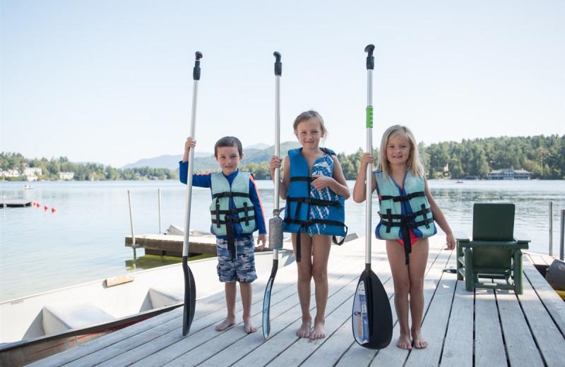 Family at Golden Arrow Lakeside Resort.