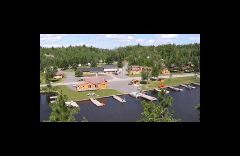 Aerial view of Sunset Resort.